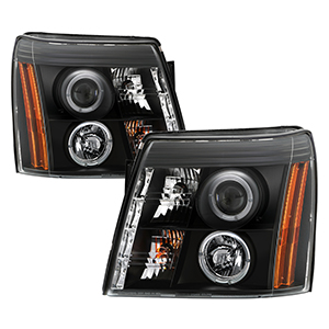 Spyder auto cadillac escalade 03 06 projector headlights xenon spyder auto cadillac escalade 03 06 projector headlights xenonhid model only not compatible with halogen model led halo drl black high h1 swarovskicordoba Images