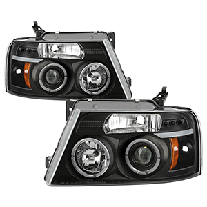 Spyder auto ford f150 04 08 projector headlights version 2 led spyder auto ford f150 04 08 projector headlights version 2 led halo led replaceable leds black high h1 included low 9006 included swarovskicordoba Images