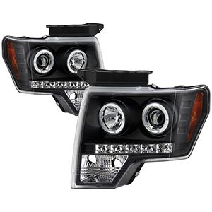 Spyder auto ford f150 09 14 projector headlights halogen model spyder auto ford f150 09 14 projector headlights halogen model only not compatible with xenonhid model led halo led replaceable leds swarovskicordoba Images