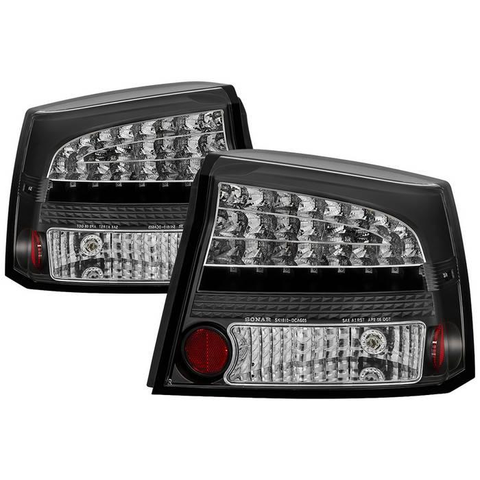 Spyder Auto Dodge Charger 06 08 Led Tail Lights Black