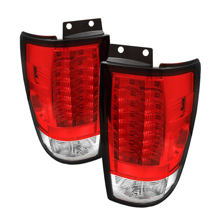 Spyder Auto Ford Expedition 97 02 Version 2 Led Tail Lights Red Clear
