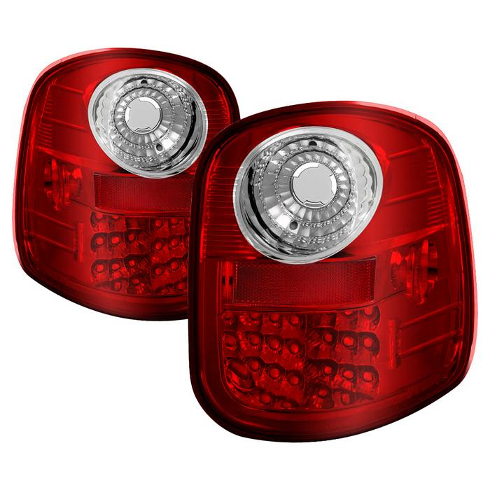 ford f150 flareside 97 03 led tail lights red clear these tail lights. Black Bedroom Furniture Sets. Home Design Ideas