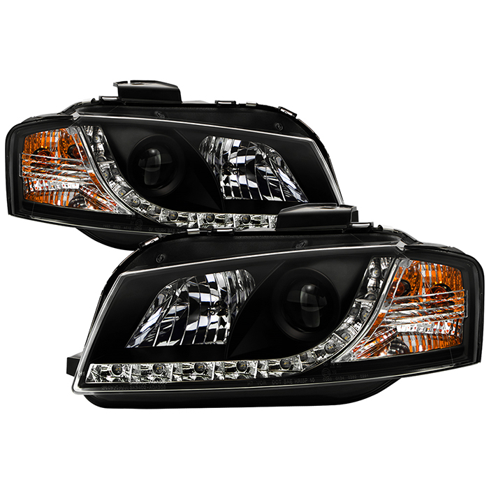 Spyder auto audi a3 06 08 projector headlights halogen model spyder auto audi a3 06 08 projector headlights halogen model only not compatible with xenonhid model drl black high h1 included low h7 swarovskicordoba Gallery