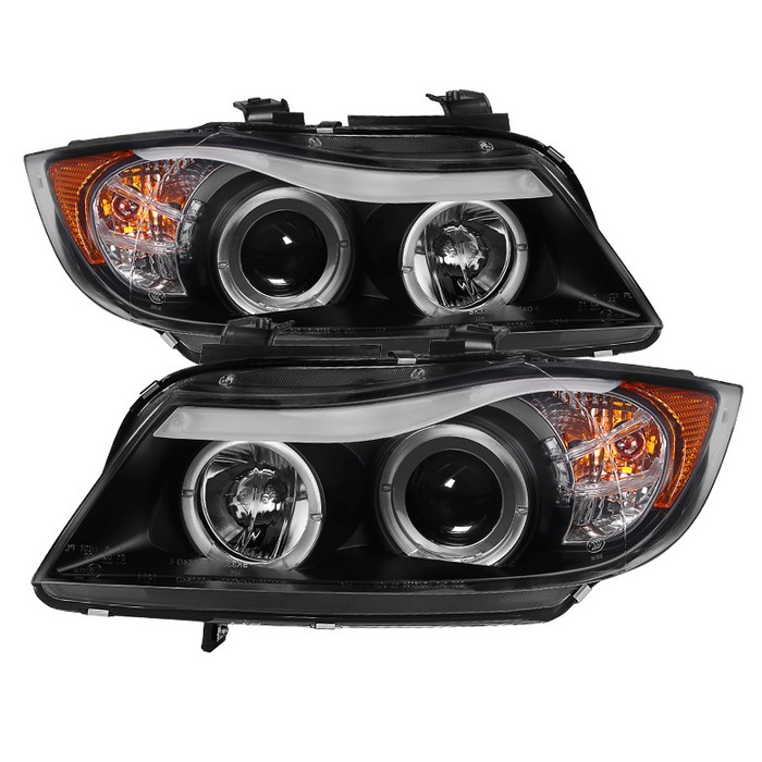 PRO YD BMWE9005 AM BK spyder auto bmw e90 3 series 06 08 4dr projector headlights  at reclaimingppi.co