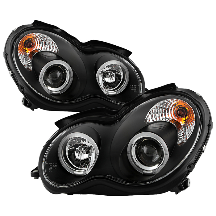 Spyder auto mercedes benz c class 01 05 4 dr only for Mercedes benz projector lights