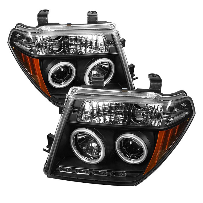 Spyder Auto Nissan Frontier 05 08 Pathfinder 07 Projector Headlights Ccfl Halo Led Replaceable Leds Black High H1 Included Low