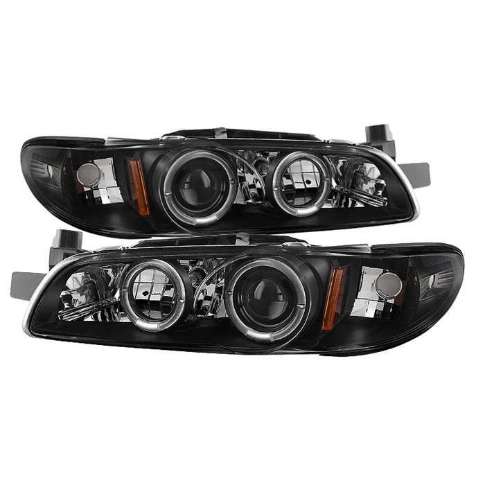 Spyder Auto Pontiac Grand Prix 97 03 1pc Projector Headlights Led Halo Black High 9005 Included Low H1