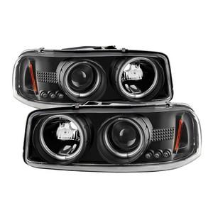 Spyder 5078704 CCFL Halo LED Projector Headlights For 99-06 GMC Sierra
