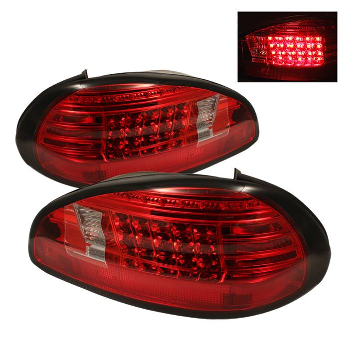 Pontiac Grand Prix 97 03 Led Tail Lights Red Clear