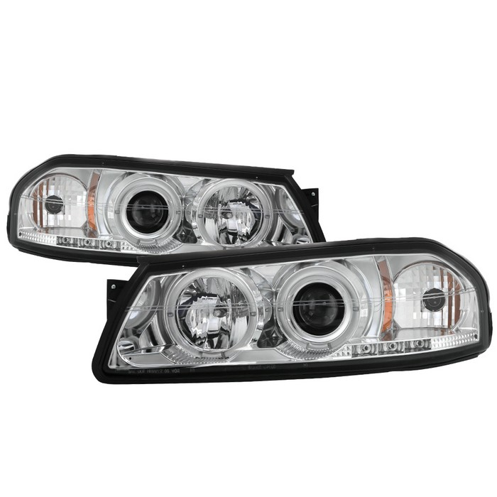 Chevy Impala 00 05 Projector Headlights Led Halo Replaceable Leds Chrome High H1 Included Low