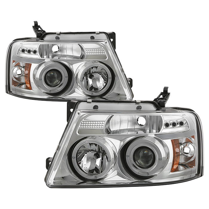 5010216 - Spyder Auto Chrome Projector Headlights for Ford F150