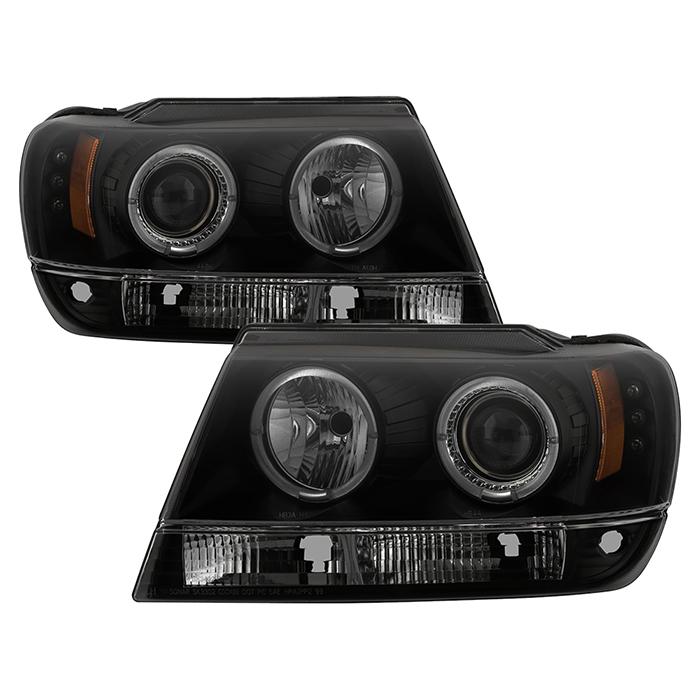 5078568 - Jeep Grand Cherokee Black Smoke Projector Headlights