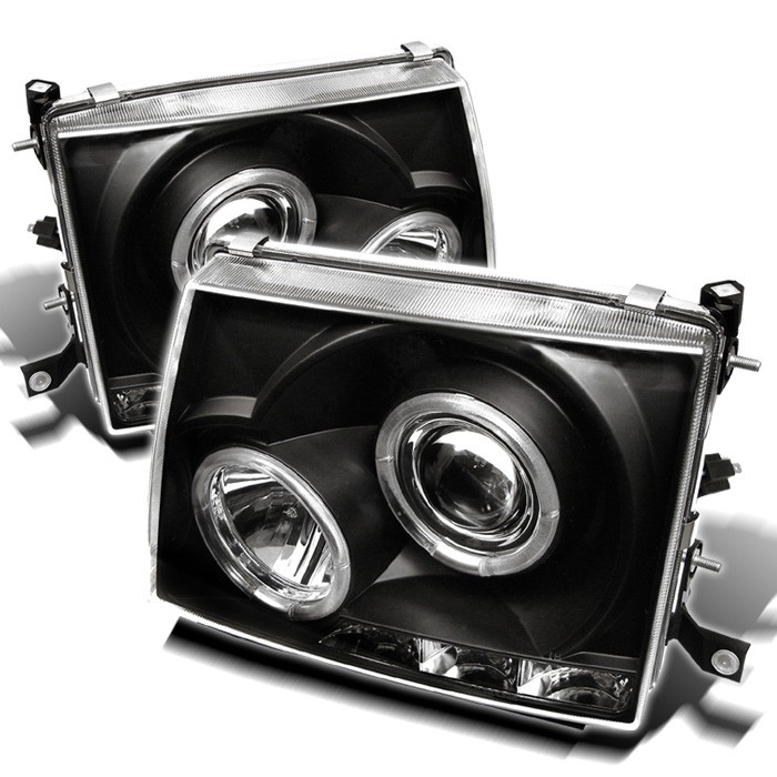 Toyota Tacoma 97 00 Projector Headlights Led Halo Replaceable Leds Black High H1 Included Low