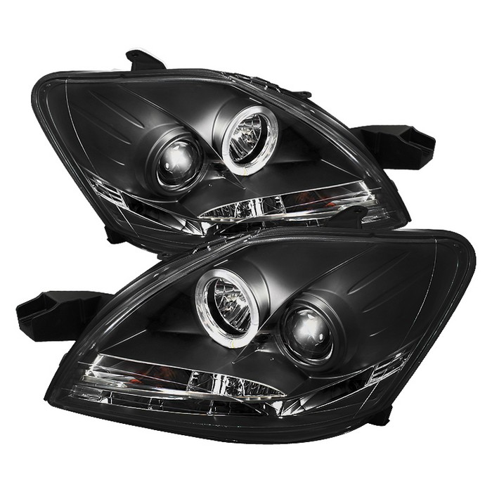 Toyota Yaris 07 11 4dr Projector Headlights Led Halo Drl Black High H1 Included Low